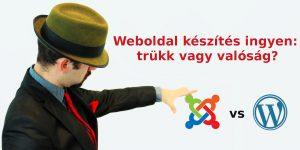 weboldal készítés ingyen trükk