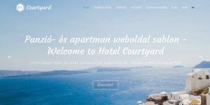 panzió és apartman weboldal sablon